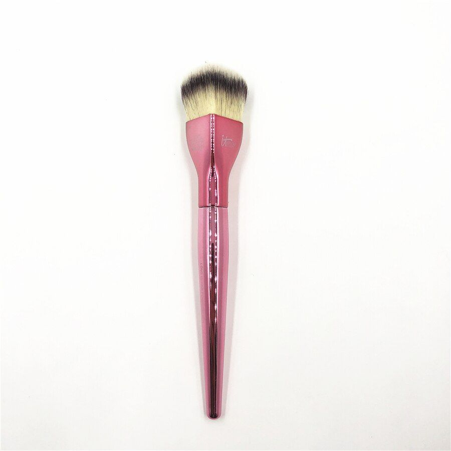 Ulta Remodelage Du Brosse Il Cosmétique Chrome Rose Spécial Coeur Forme Lâche Poudre Blush Maquillage Brosse Amour Beauté