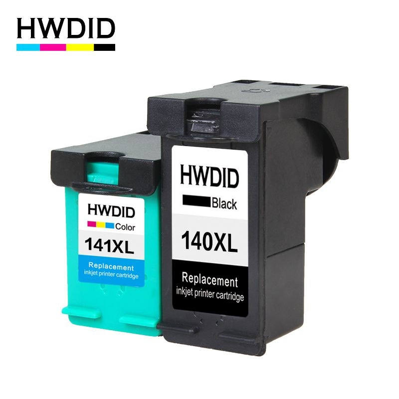 HWDID 140XL 141XL Refilled Ink Cartridge Replacement for HP 140 141 for Photosmart C4283 C4583 C4483 C5283 D5363 Deskjet D4263