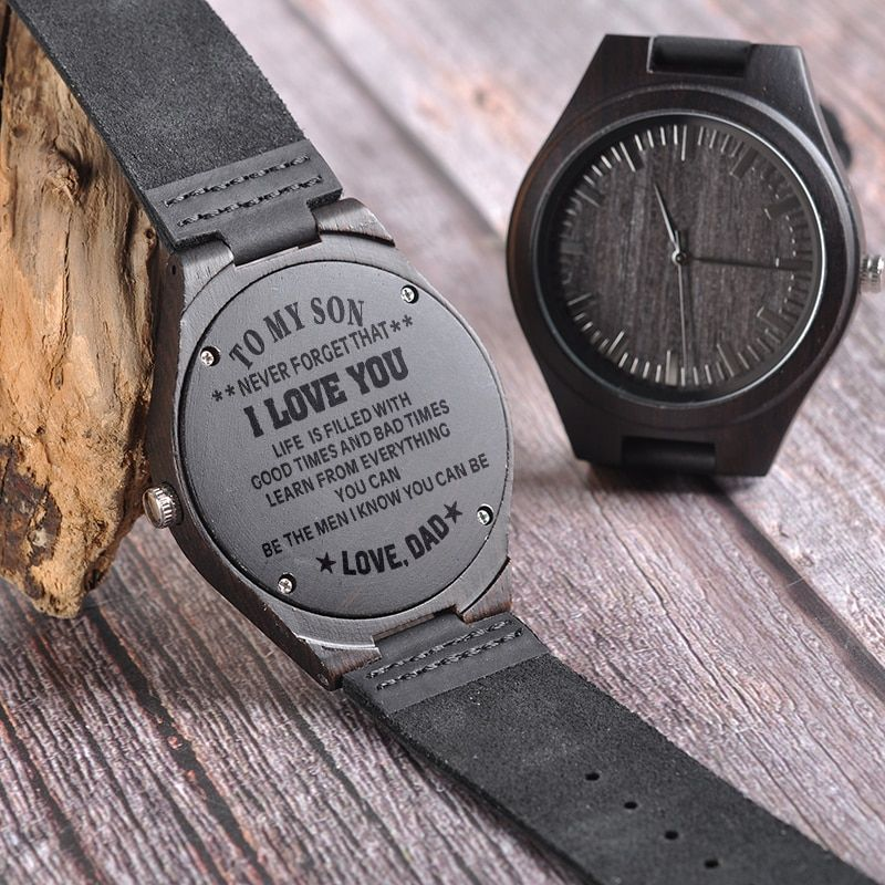 BOBO BIRD Engraving Men Watches Family Gifts for Son DAD MOM Men's Quartz Women Wristwatch logo for Boyfriend Engrave Logo D26