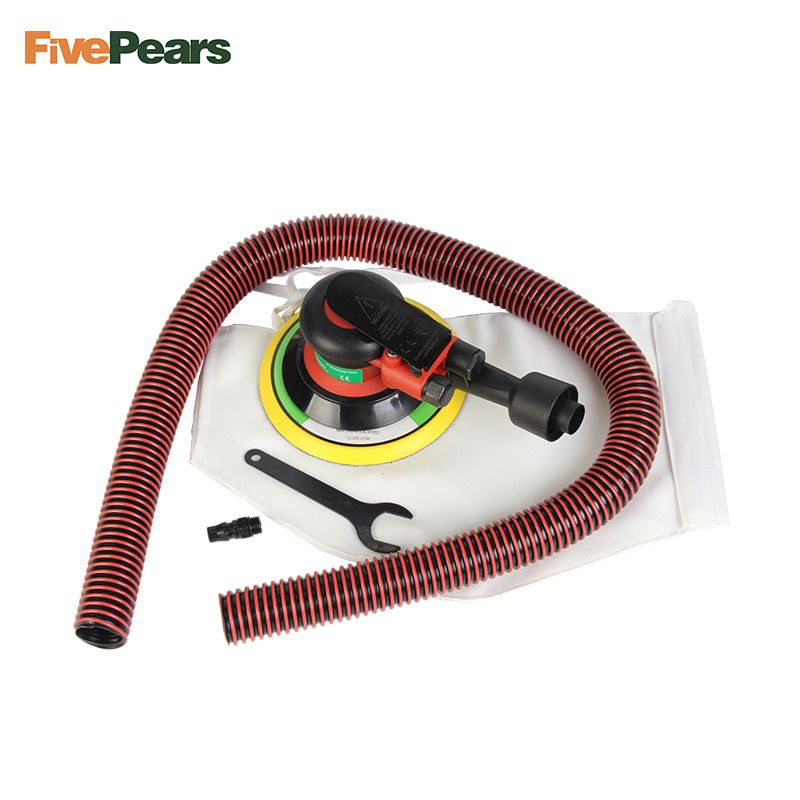 Free shipping Wholesale 6 Inches air Sander with Vacuum 150mm <font><b>Pneumatic</b></font> Sander 6 Air Sanding Machine <font><b>Pneumatic</b></font> Tools FivePears