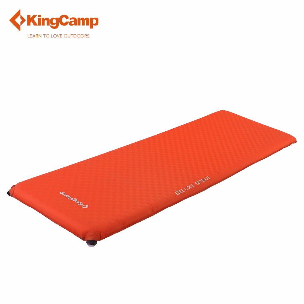 KingCamp Sleeping Mat Camping Pad Soft Portable Mat Deluxe Single Self-Inflating Camp Pad for Camping