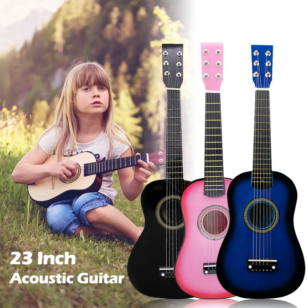 IRIN Mini 23 Inch Basswood Acoustic 12 Frets 6 Strings <font><b>Guitar</b></font> with Pick and Strings for Children Hcoustic <font><b>Guitar</b></font>