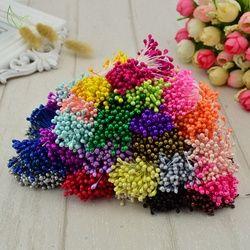 300 piezas mini perla estambre azúcar hecho a mano flor artificial para la decoración de la boda diy scrapbooking flor falsa de la guirnalda