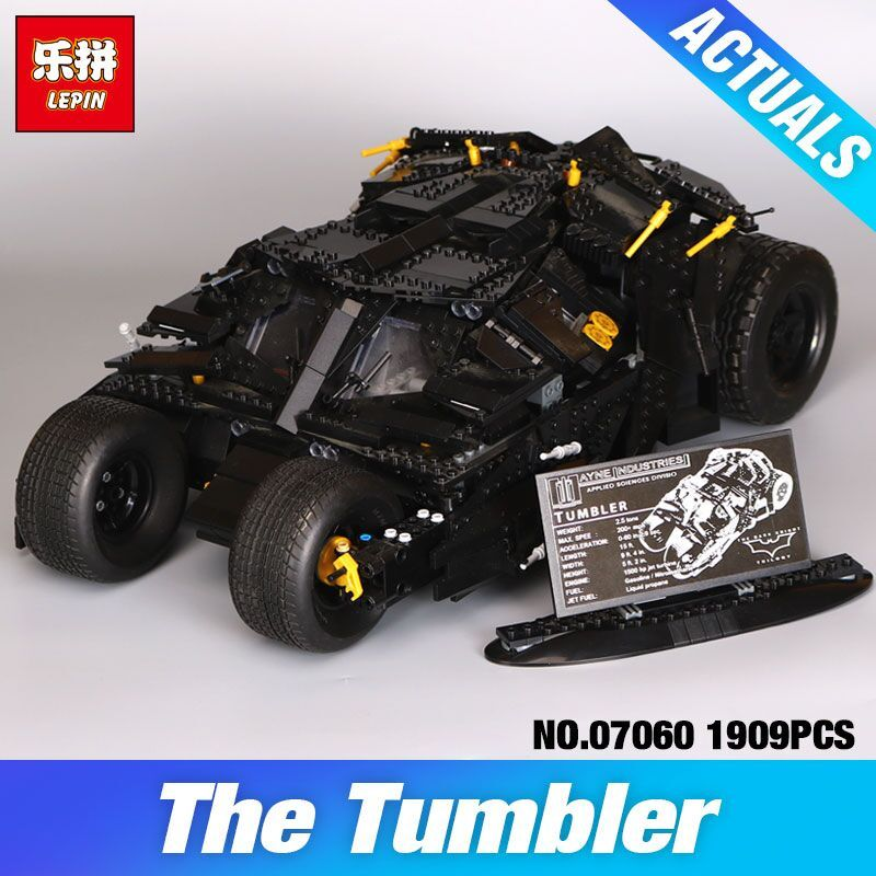 LEPIN 07060 Super Hero Movie Series The Tumbler Batman Armored Chariot Set 76023 Building Block Bricks Toys DIY Birthday Gifts