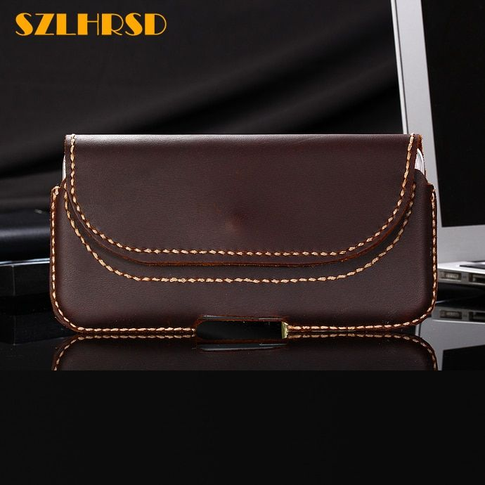 SZLHRSD For Samsung Galaxy S9 Active s8 S6 S7edge S9 S9 Plus Case Genuine Leather Holster Belt Clip Pouch Funda Cover Waist Bag
