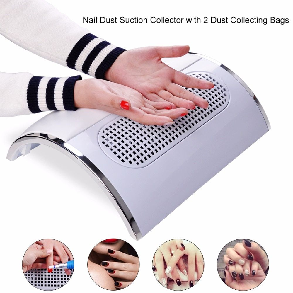 Biutee Powerful Nail Dust Suction <font><b>Collector</b></font> with 3 Fan Vacuum Cleaner Manicure Tools with 2 Dust Collecting Bags