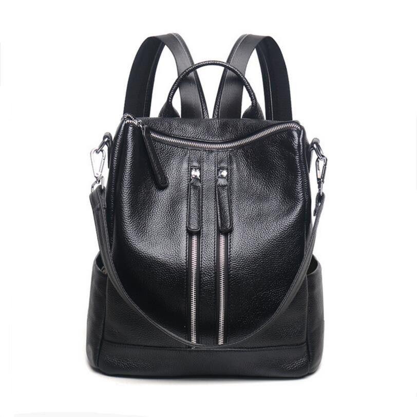 black leather backpack laptop bag womens genuine leather backpacks for teenage girls bagpack travel backpack women shoulder bag