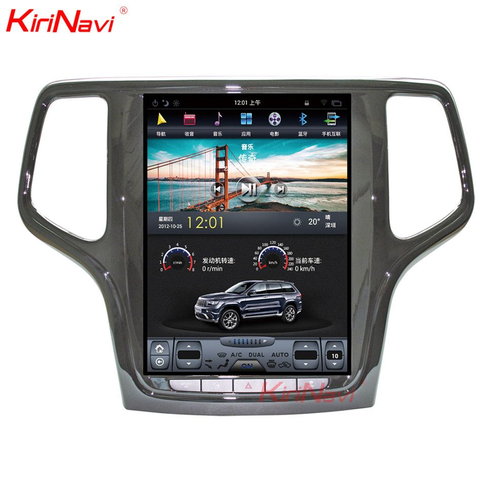 KiriNavi 10,4 Bildschirm Android 7.1 Für JEEP Grand Cherokee Auto DVD Radio Audio GPS Navigation Monitor Multimedia Spielen
