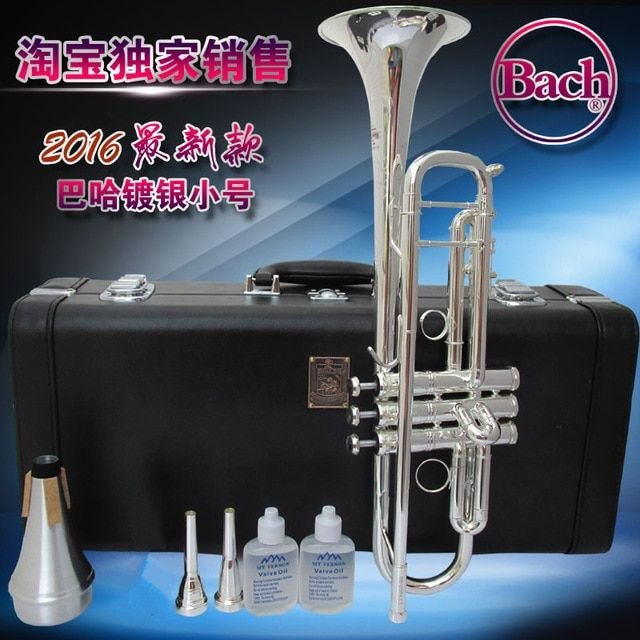 Bach Silver-plated trumpet LT190S-98 down Bb trumpet latest design trumpet limited edition music promotion