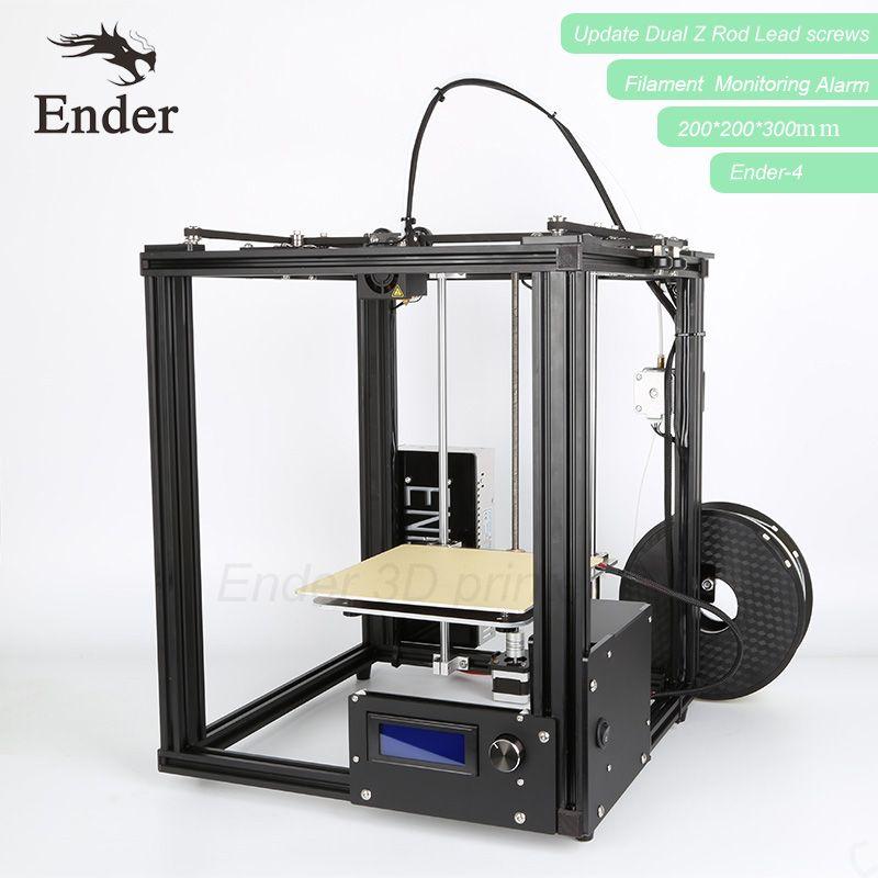 2018 Ender-4 3D imprimante kit Laser Gravure, Auto Nivellement, Filament Surveillance D'alarme Protection option Prusa i3 Imprimante 3D