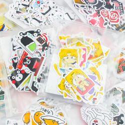 24 diferente estilo animal mini etiqueta engomada de papel scrapbooking del diario del álbum de DIY de La etiqueta engomada de kawaii