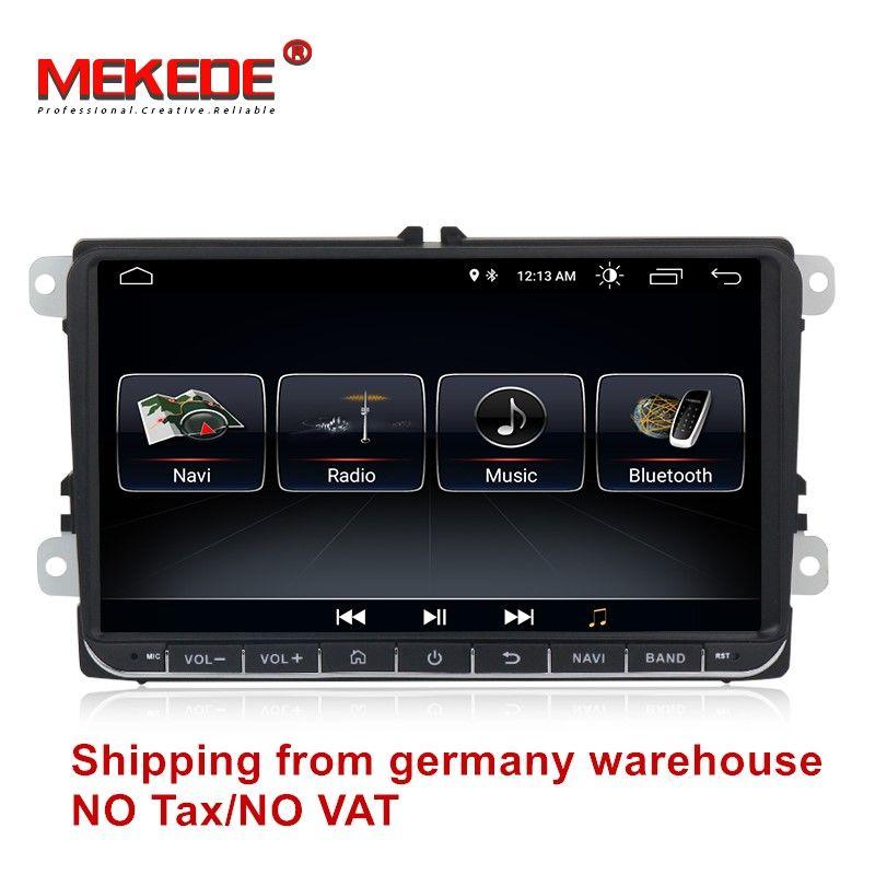 free shipping Android 8.0 Car GPS navigation DVD player For VW golf 4 golf 5 6 touran passat B6 jetta caddy transporter t5 pol