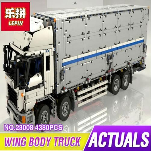New Lepin 23008 4380Pcs Technical Series The MOC Wing Body Truck Set Educational Building Block Bricks Children Toys Gift 1389