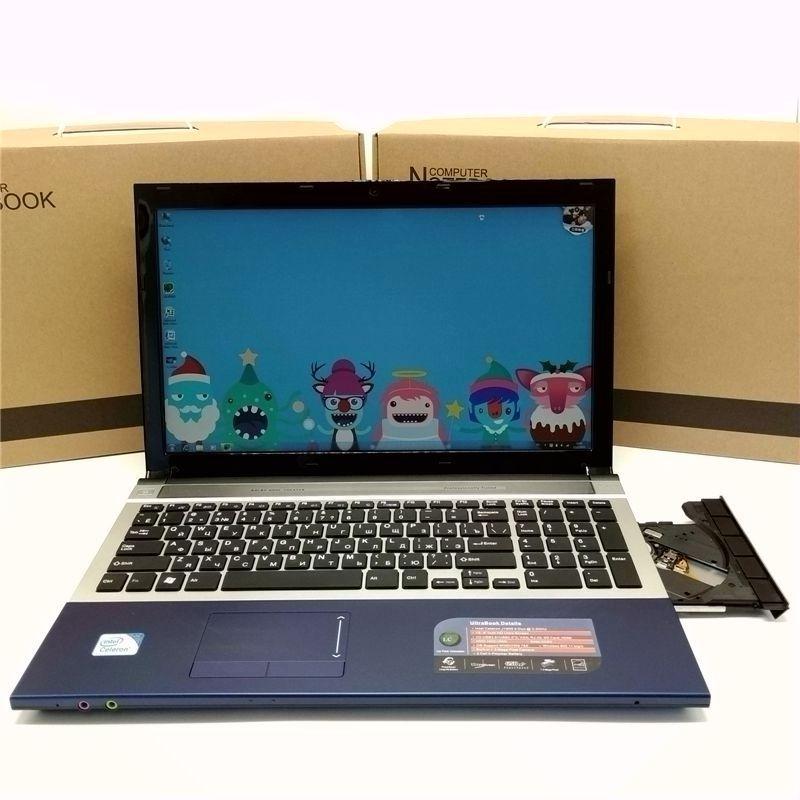 Kostenloser Versand! 15 zoll gaming laptop notebook computer Wtih DVD 8 GB DDR3 1 TB HDD intel Pentium ODER i7 CPU WIFI webcam HDMI