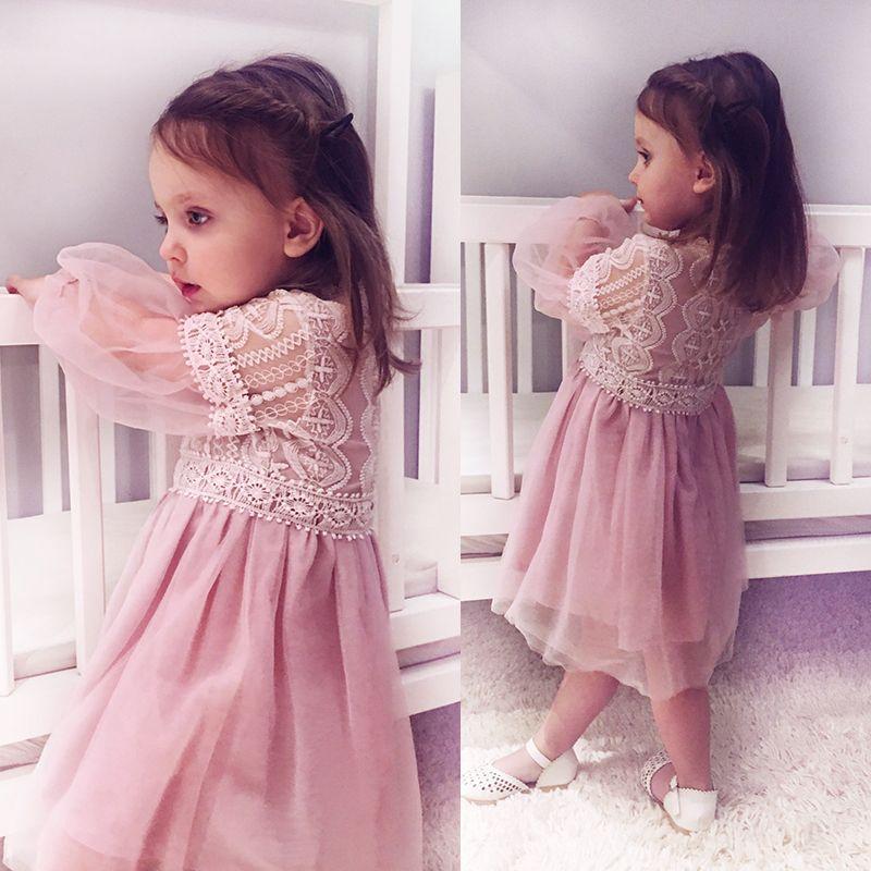 2017New D'été Costume Filles Princesse Robe de Soirée pour Enfants Vêtements Enfants Mousseline de Soie En Dentelle Robes Bébé Party Girl Perle Robe