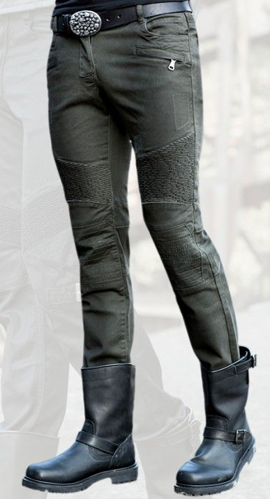 Wholesale and retail free delivery uglybros MOTORPOOL dark green jeans casual outdoor motorcycle pants men riding jeans