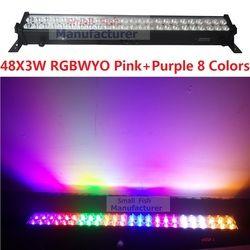 2019 جديد 48x3 W RGBWYPOP 8 ألوان وحدة إضاءة LED جداريّة غسل المشهد خط مصباح بار DMX512 داخلي LED الفيضانات أسفل الإضاءة DJ DMX ديسكو نادي