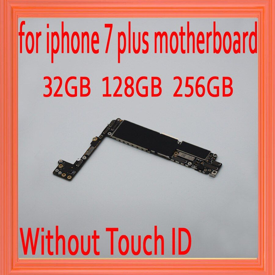 100% Original unlocked for iphone 7 plus Motherboard without Touch ID,for iphone 7P Mainboard with Chips,32gb / 128gb / 256gb