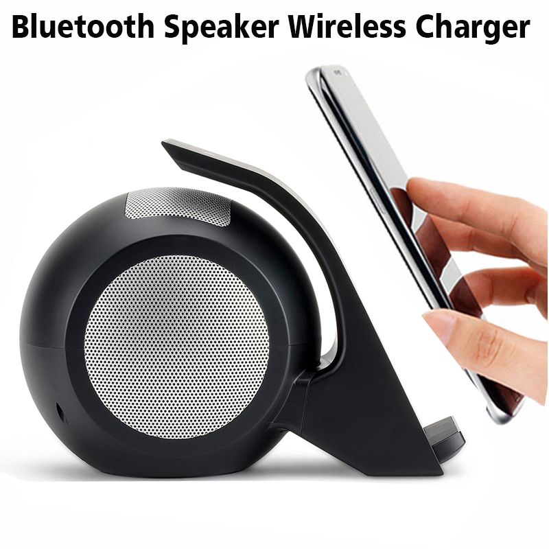 For iPhone X Fast Wireless Charger with Bluetooth Speaker For Samsung Galaxy Note 8 S8 S8 Plus S7 Edge S7 All Qi-Enabled Devices