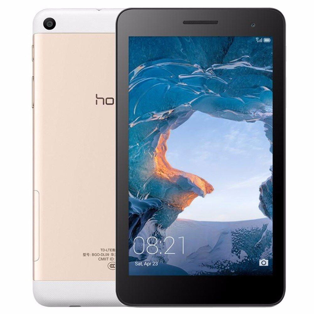 Ursprünglicher Huawei Honor MediaPad LTE/BGO-DL09 7 zoll 2 GB 16 GB 4G Anruf Tablet Android 6.0 Spreadtrum SC9830I Quad-core GPS