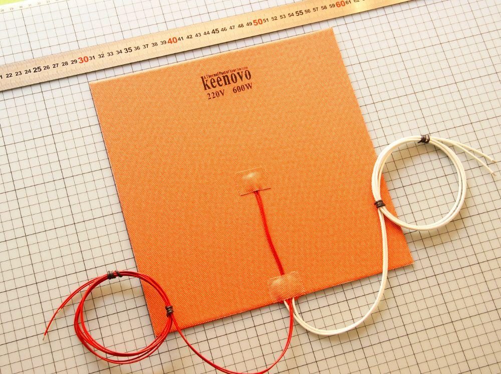 280x280 мм 600W @ 220 В Аутентичные Keenovo силиконовый нагревателя Pad для 3D-принтеры с подогревом, сборки плиты Нагревательный элемент бесплатная дост...