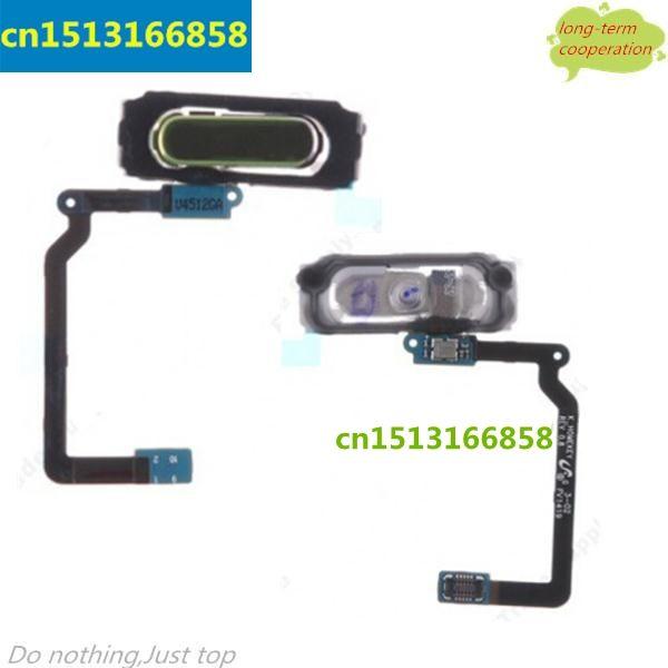 Knopf mit Flex Kabel Ersatz für Samsung Galaxy i9600 S5 G900R G900F G900H G900M-Schwarz/Weiß