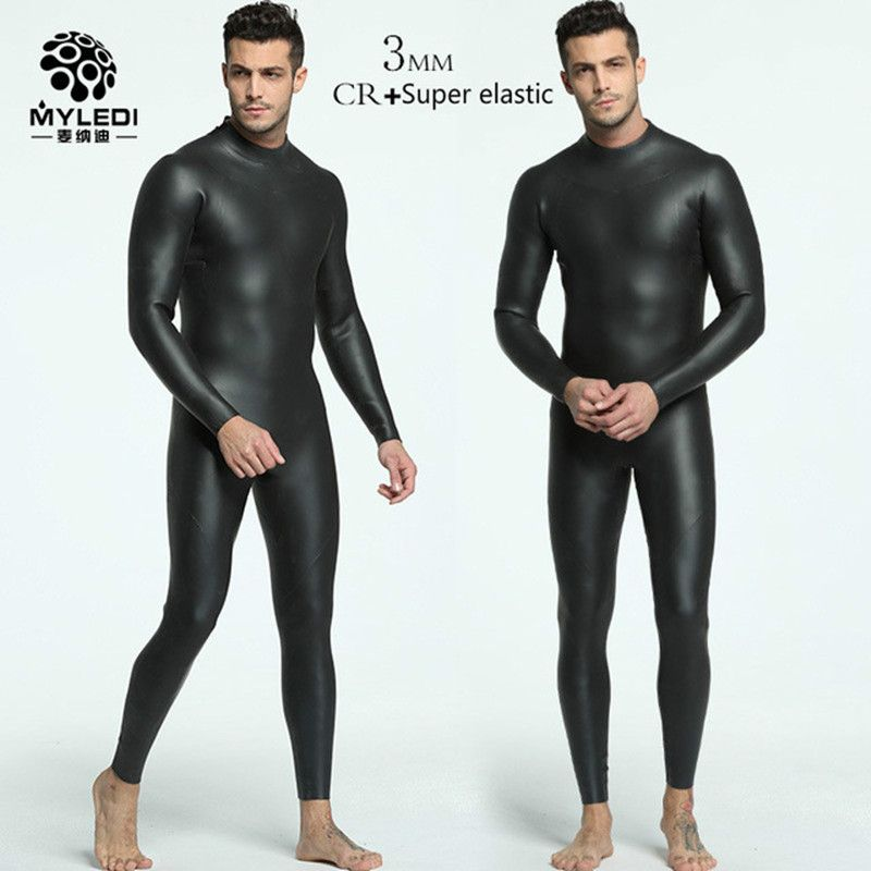 3MM integrated diving suit CR+ ultra elastic Triathlon wetsuit male anti cold warm skin diving suit male