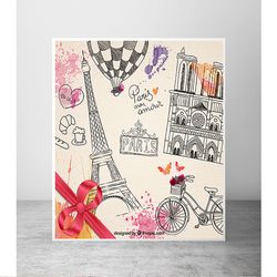 Newborn Photo Background Bicycle Tower Art Background Photo Villa Hot Air Balloon Backdrops for Photographic Studio