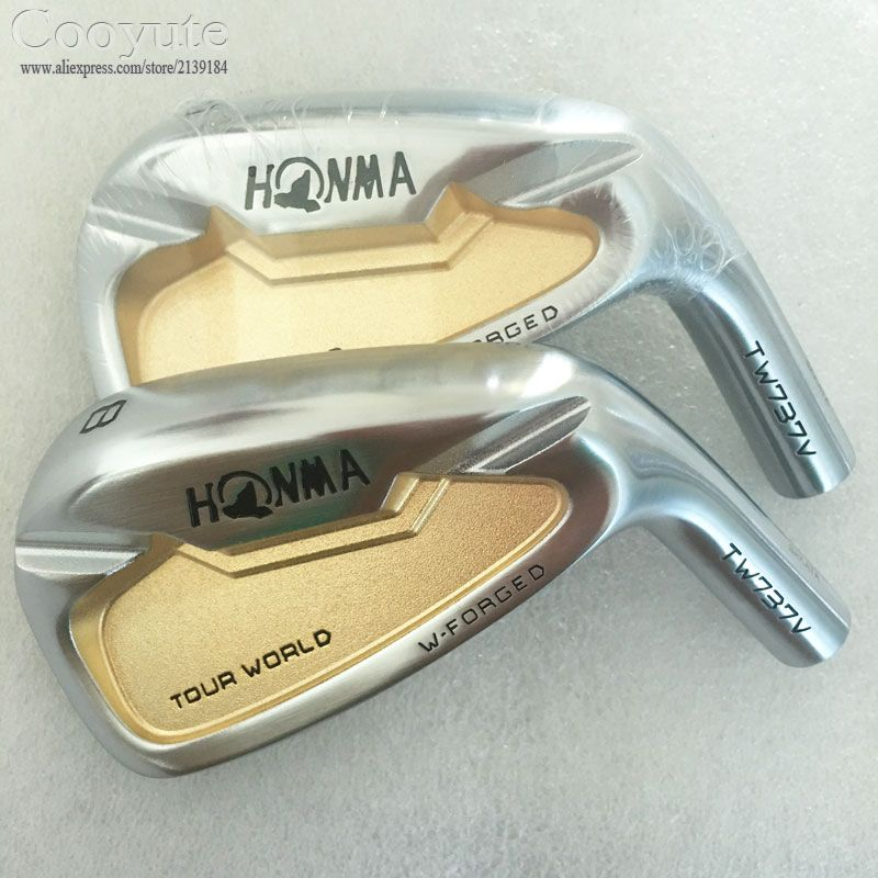 Cooyute New HONMA Golf heads HONMA TW737V Golf irons 4-910 gold Right Handed Golf Clubs head no Clubs shaft Free shipping