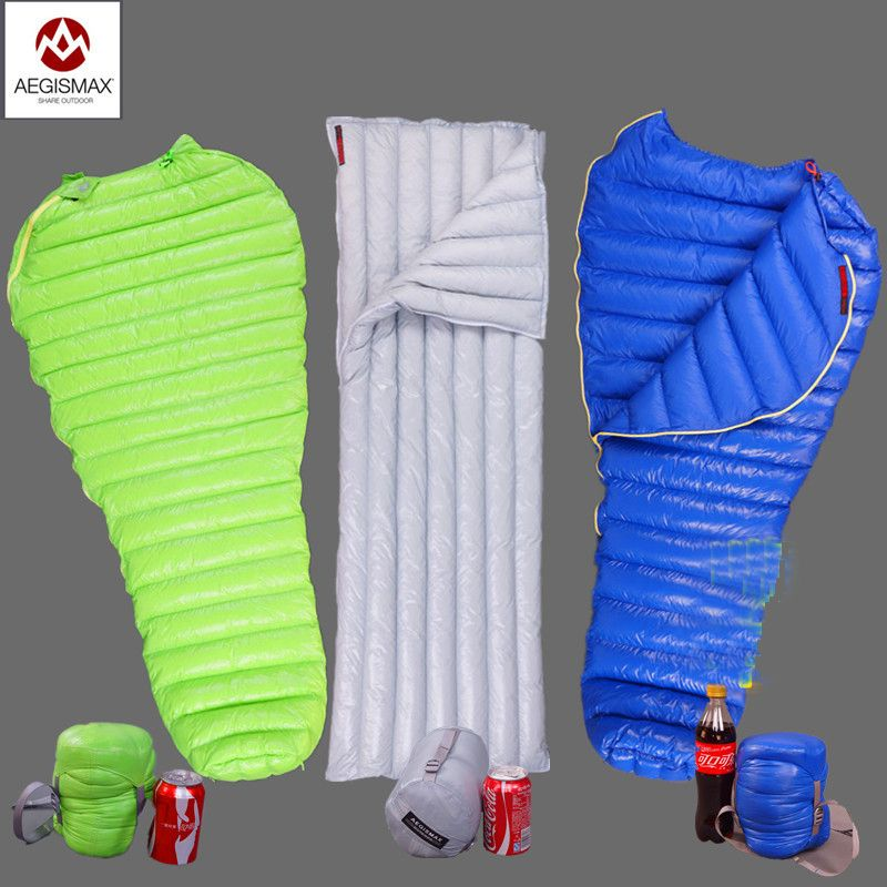 Aegismax Outdoor Camping Ultralight Mummy 95% 800FP Goose Down Sleeping Bag Spring Autumn Winter Tent Light weight Sleeping Bags