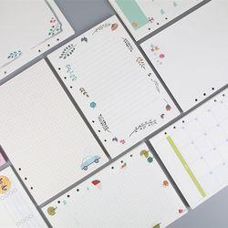 Nueva 40 hoja/paquete A5 A6 cuaderno de espiral de color recargas 6 agujeros diario BINDER papel para filofax planificador interior páginas