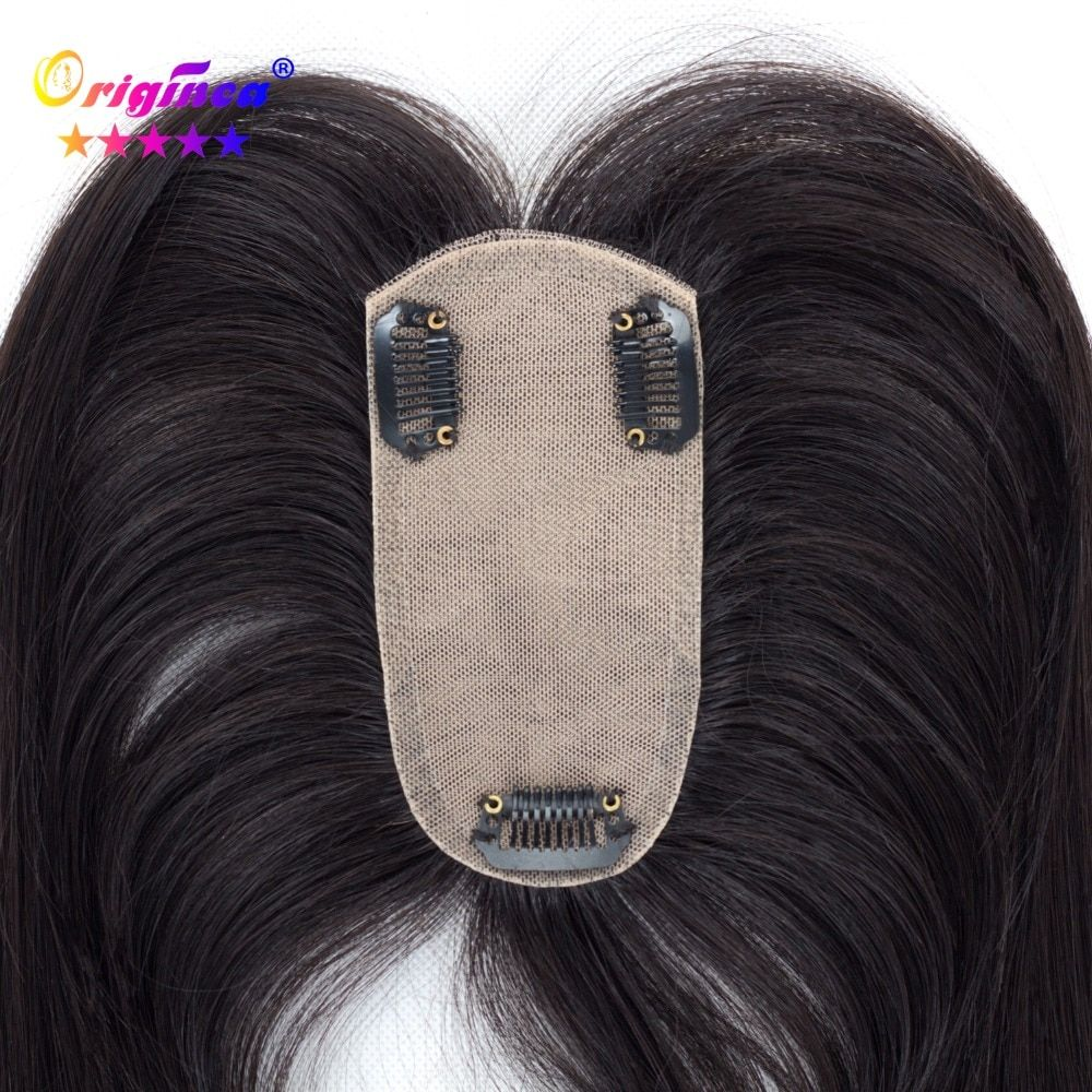 Originea Human Hair Toupee for Women Net Base Size 12*6 cm Hair Length 12/16/20 Inch Human Hair Replacement System Natural Color