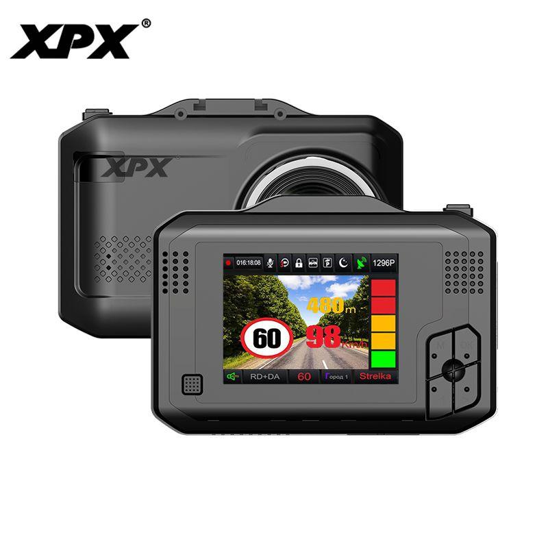 Car dvr XPX G575-STR Dash cam Car DVR 3 in 1 GPS Radar Ambarella A12 Car camera 1296P SpeedCam Geature sensing dashcam DVR