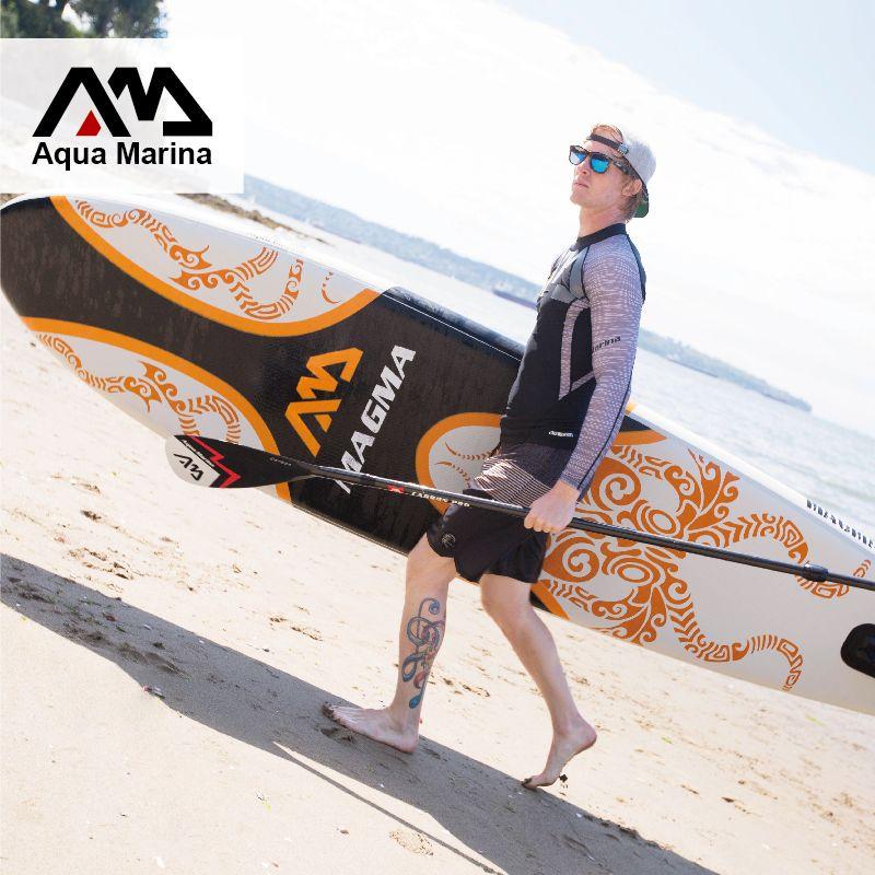 330*75*15cm inflatable surf board stand up paddle board AQUA MARINA MAGMA pedal control sup board bag leash paddle A01005