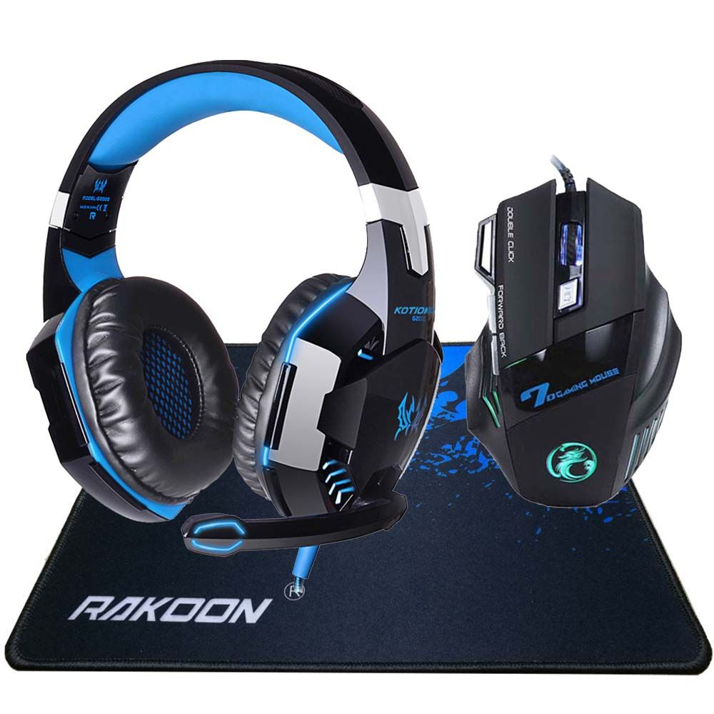 In Stock 5500 DPI X7 Pro Gaming Mouse+ Hifi Pro Gaming Headphone Game Headset+Gift Big Gaming Mousepad for Pro Gamer