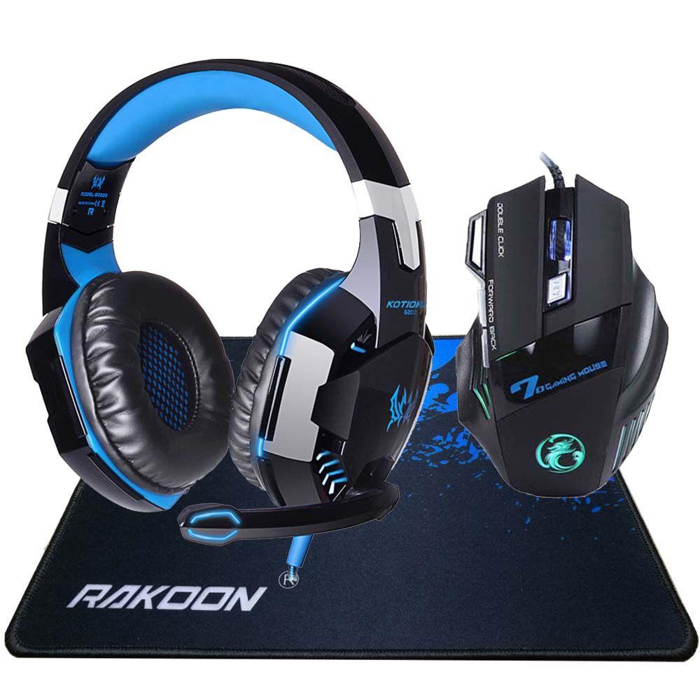 In Stock 5500 DPI X7 Pro Gaming Mouse+ Hifi Pro Gaming Headphone Game Headset+Gift Big Gaming Mousepad for Pro Gamer