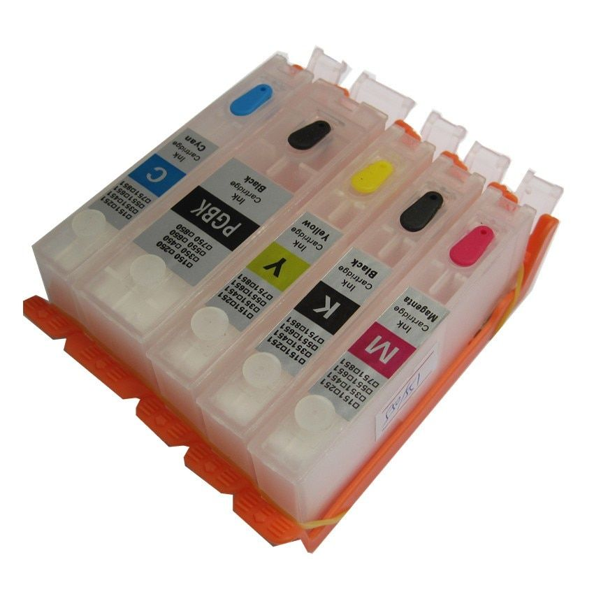 PGI-470 PGBK 470 471 CLI-471 refillable ink cartridge refill permanent <font><b>chip</b></font> For canon PIXMA MG6840 MG5740 TS5040 TS6040 printer