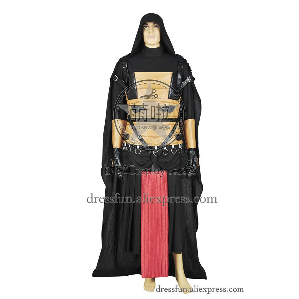 Star Wars Cosplay Knights Of The Old Republic Darth Revan Costume Uniform Jumpsuit Outfits Halloween Party Fast Shipping