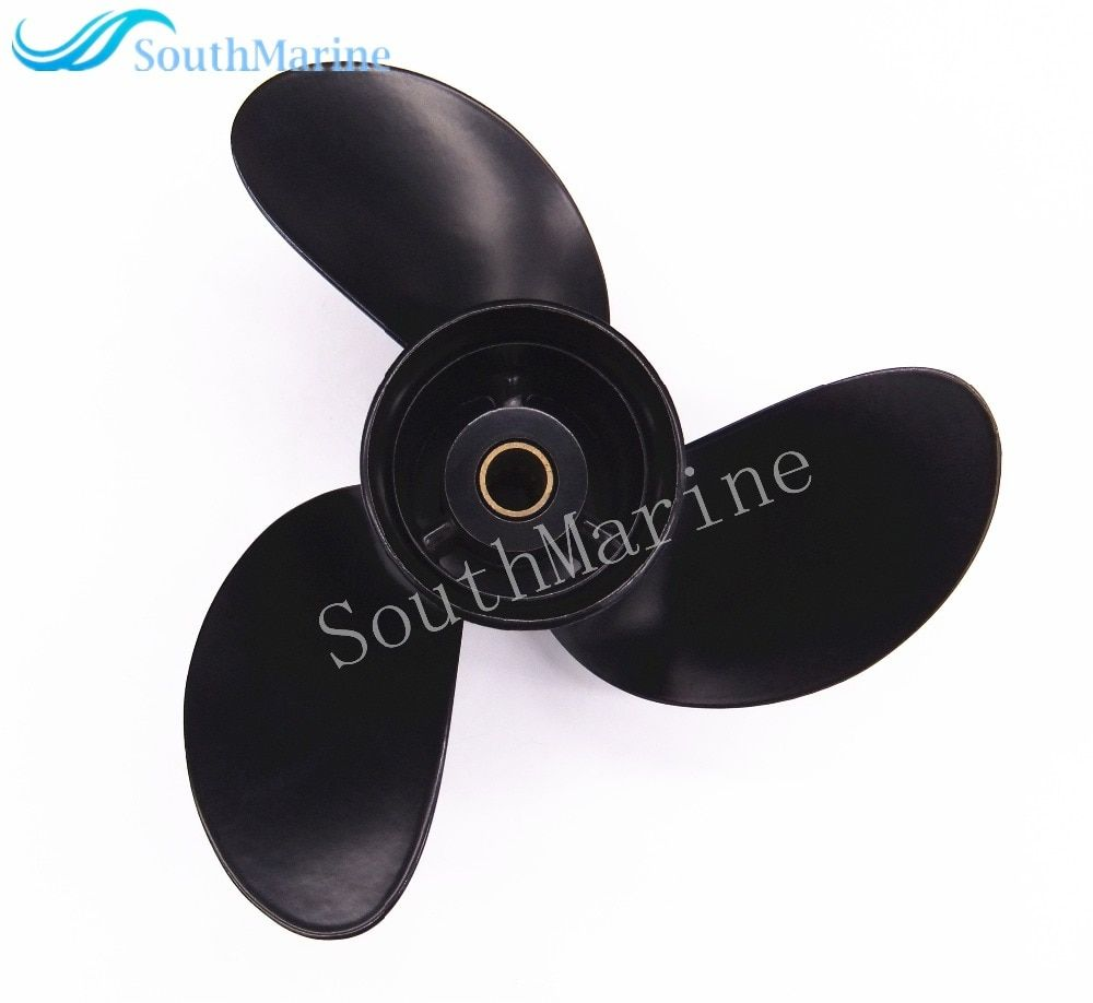 Boat Engine Aluminum Propeller 8.5x9 for Tohatsu / Nissan 2-Stroke 4-Stroke 8HP 9.8HP Outboard Motor 8.5 x 9 , Pitch 12 spine