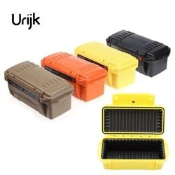 Urijk Outdoor Shockproof Waterproof Safety Boxes Survival Airtight Case Holder Storage Matches Tools Equipment Dry Box