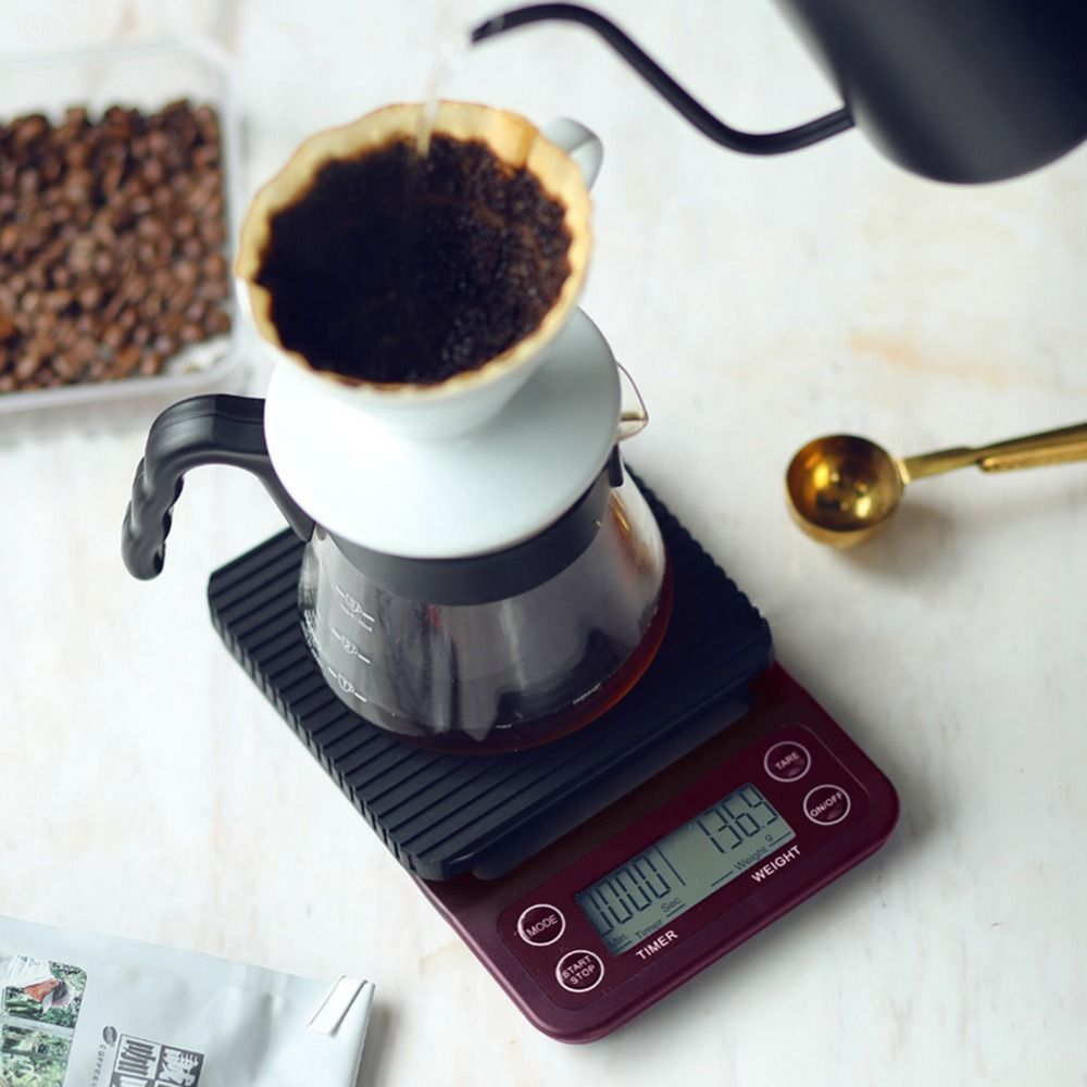 Portable 3kg/0.1g 5kg/0.5g Drip Coffee <font><b>Scale</b></font> With Timer Electronic Digital Kitchen <font><b>Scale</b></font> High Precision LCD Electronic <font><b>Scales</b></font>