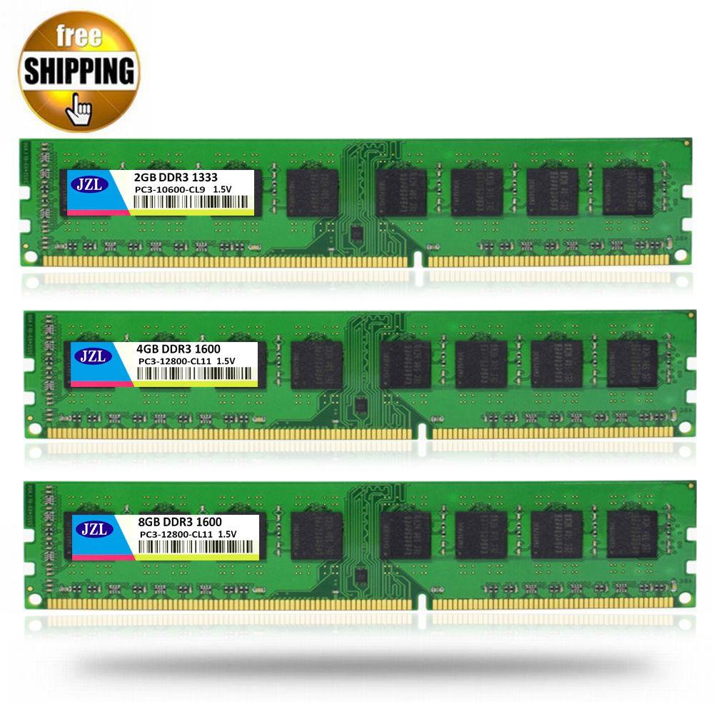 JZL LONG-DIMM PC3-12800 DDR3 1600MHz DDR 3 1333 MHz 4GB 8GB 1.5V 240PIN Desktop PC Computer DIMM Memory RAM Only For AMD CPU