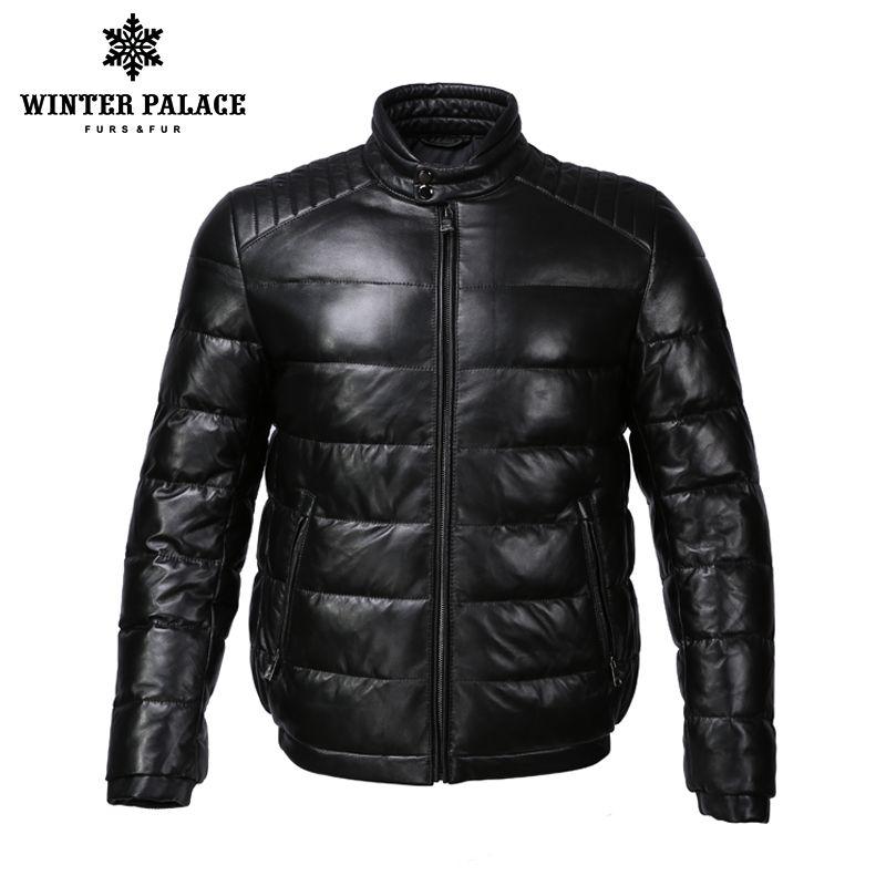 Junge stil leder jacke Mandarin Kragen leder jacke männer Interne Baumwolle jacke mens echtes leder Warme jaqueta de couro