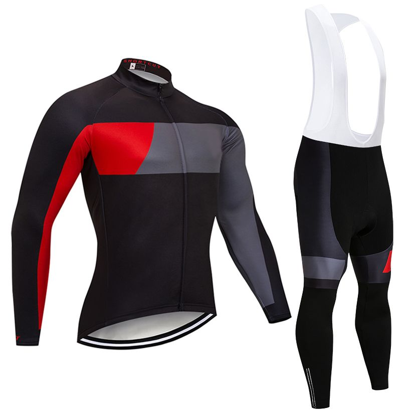 2018 RACING team long sleeve cycling jersey 9D gel pad bike pants suit MTB Ropa Ciclismo pro bicycling Maillot Culotte wear