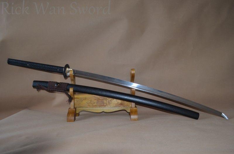HAND GESCHMIEDET JAPANISCHE NoDachi SCHWERT KATANA FOLDED STEEL FULL TANG KLINGE SHARP KLASSISCHE TSUBA