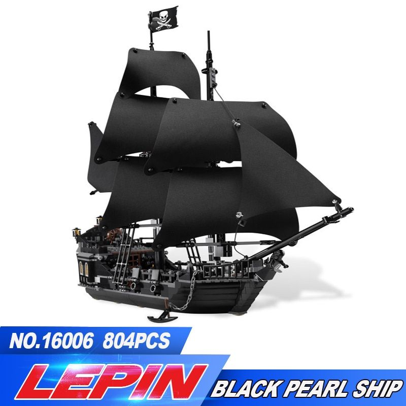 DHL LEPIN 16006 Pirates of the Caribbean The Black Pearl Building Blocks Educational 4184 Compatible legoed Toy For Children