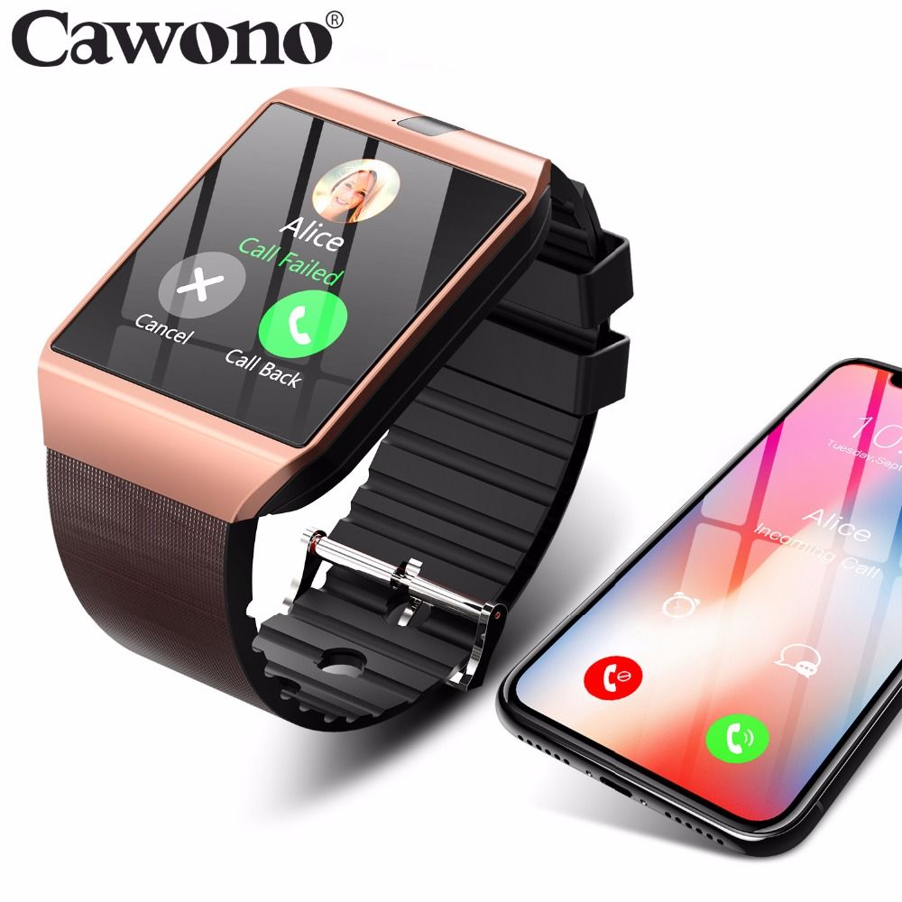 Cawono DZ09 Smartwatch Bluetooth Montre Smart Watch Relogio Montre Android Appel Téléphonique SIM TF Caméra pour IOS Apple iPhone Samsung HUAWEI