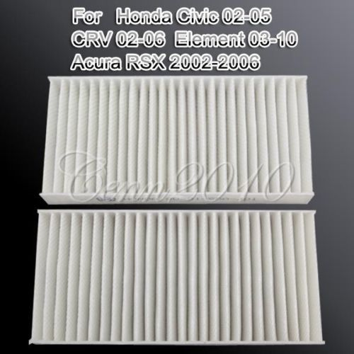 Set of 2 Filters Cabin Air Filter FOR Honda For Civic Hybrid CR-V Element For ACURA RSX