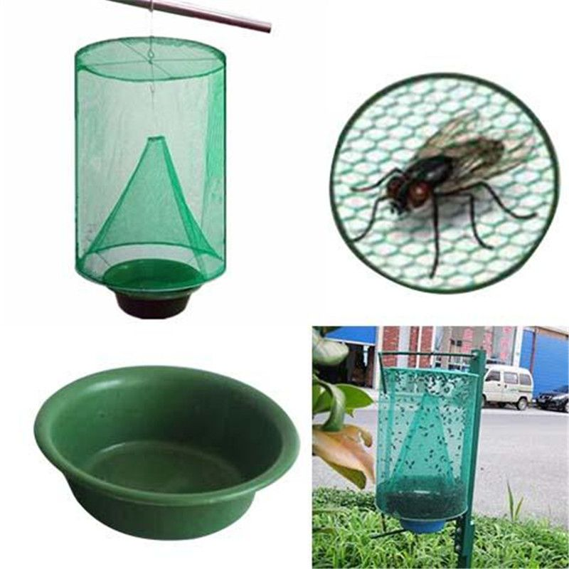 Folding Mosquito Capture Catching Fly Mesh Net Hanging Trap Insect Bug