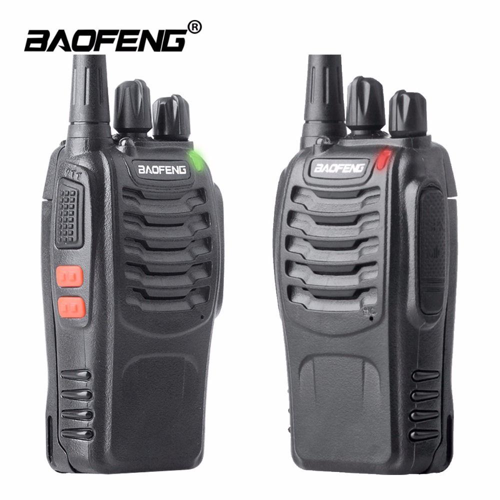 2 PCS Baofeng BF-888S Talkie Walkie bf 888 s 5 W Deux-way radio Portable CB Radio UHF 400-470 MHz 16CH Professionnel taklie talkie
